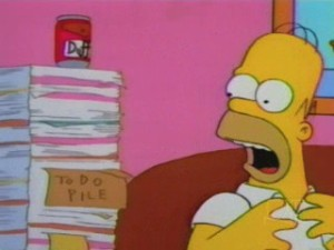Homer's 'To Do' Pile